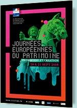"""""""Patrimoine et création"""" pour les 25 ans des Journées européennes du patrimoine, les 20 et 21 septembre 2008"""