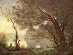Souvenir de Mortefontaine (1864). Huile sur toile, 89 x 65 cm, Paris : Musée du Louvre.