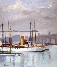 Manguin H. Le Vieux-Port et le Pont Transbordeur