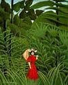 Femme en rouge dans la forêt - 1907 - huile sur toile