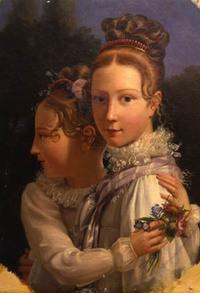 Les sœurs Allart, par Louis Ducis (vers 1815) - huile sur toile - coll. Société Chateaubriand © Société Chateaubriand
