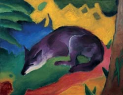 Franz Marc (1880-1916) Renard d'un bleu noir, 1911