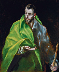 El Greco (1541-1614)     Saint Jacques le Majeur. Ca. 1610-1614, huile sur toile (c) Toledo, Museo del Greco