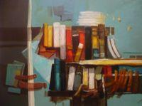Bibliothèque, 81x60 acrylique sur toile