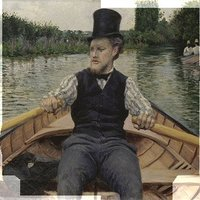 Gustave Caillebotte (1848-1894) Partie de bateau dit Canotier au chapeau haut de forme Vers 1877-1878 Collection particulière © Tous droits réservés © RMN / Daniel Arnaudet