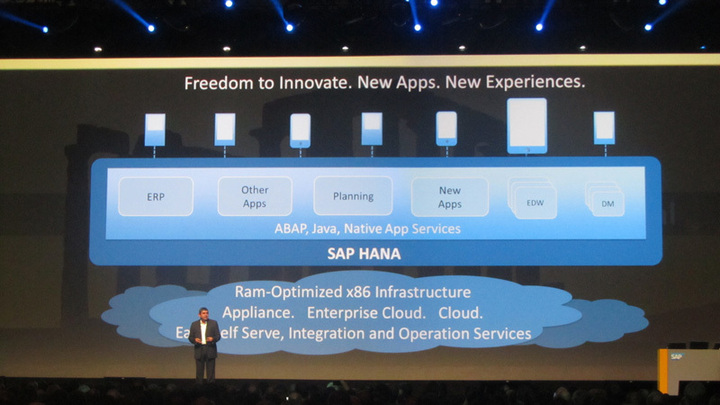 Au cas où vous ne l'auriez pas compris, l'ensemble de la stratégie produit SAP va deplus en plus reposer sur HANA.