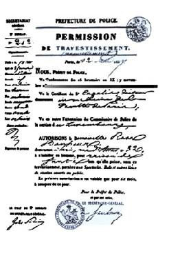 Une loi française interdit aux femmes le port du pantalon....