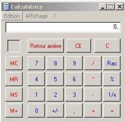 Une calculette dans Excel...