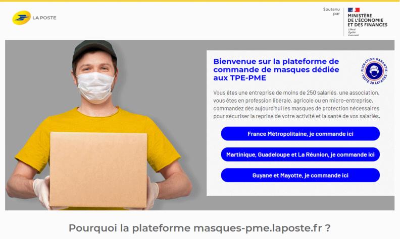 Avec « masques-pme.laposte.fr », Docaposte révèle son savoir-faire dans le développement de plateformes numériques