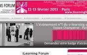 12 et 13 février 2013 (Paris) | iLearning Forum Paris 2013