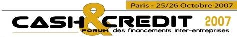 Forum CASH & CREDIT co-organisé par DPE et la CCIP avec le soutien de CFO-news
