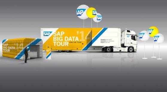 SAP donne le coup d'envoi de son Tour Big Data à travers l'Europe