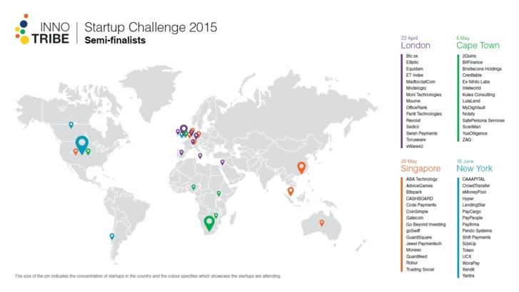 Innotribe annonce les demi-finalistes du 2015 Startup Challenge