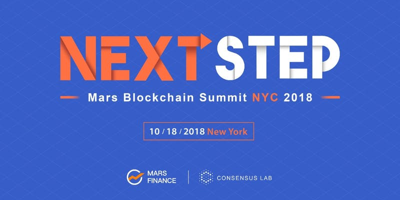 NEXT STEP! Mars Blockchain Summit NYC to be Held on October 18, 2018