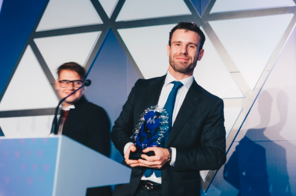 Valerio Gallitto from Greenspider, one of the participating startups in the Startup Village in November 2018, won the award IoT of the Year.