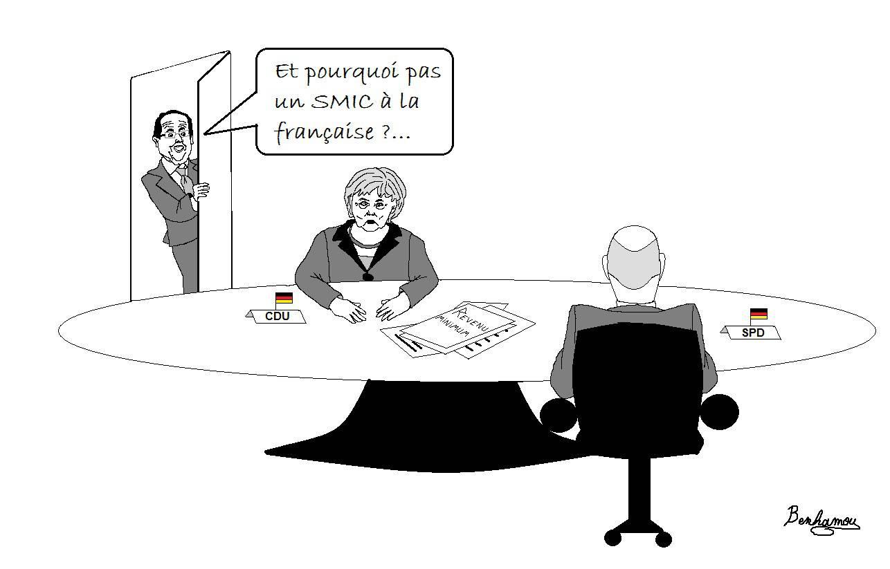 Hollande à Merkel : et pourquoi pas un SMIC à la française ?
