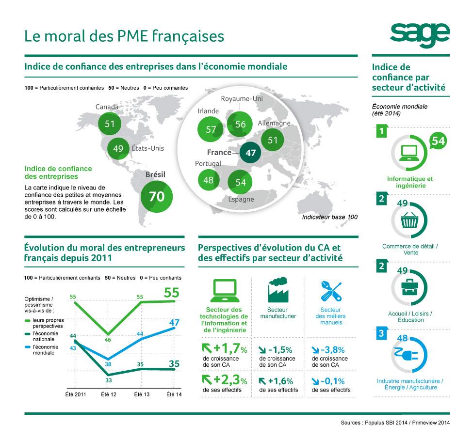 Entrepreneurs français : entre défiance et stagnation (infographie)