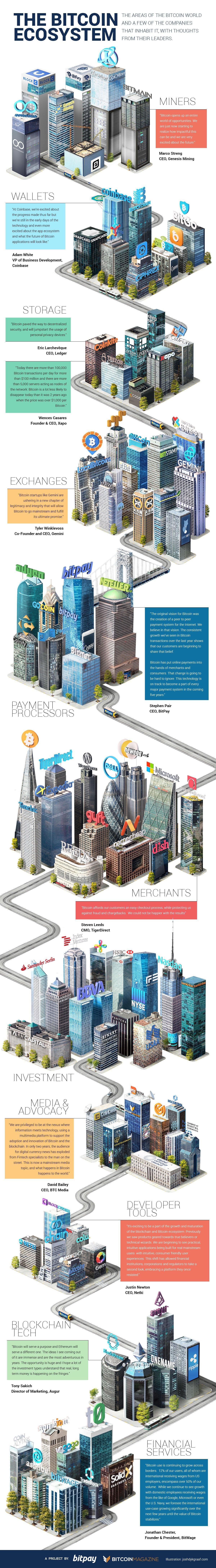 L'écosystème Bitcoin-Blockchain (infographie)